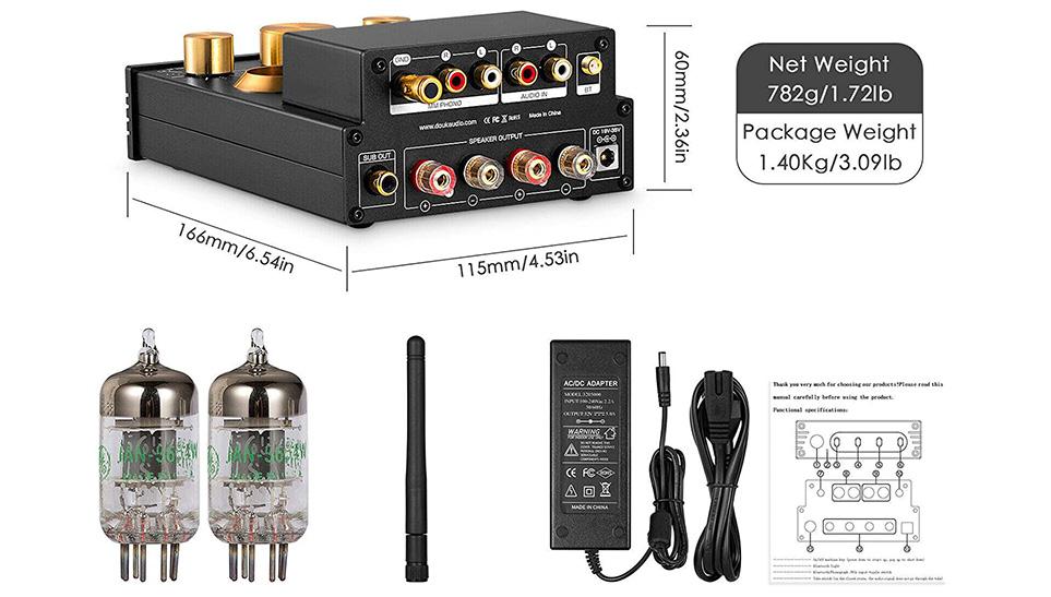 Amplificateur de tubes HiFi Bluetooth 5.0 - 320 W