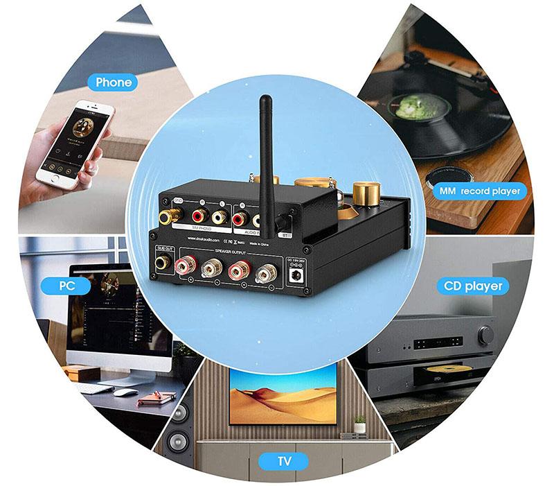 test Amplificateur de tubes HiFi Bluetooth 5.0 - 320 W