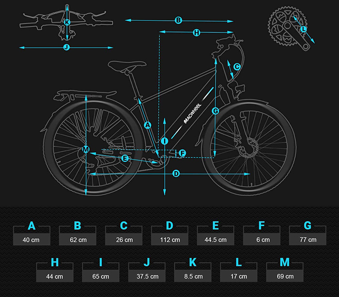 Vélo élétrique Macwheel